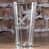 Zodiac Sign Pint Pub Glass Gift, Beer Lover Birthday Gifts