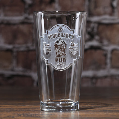 Personalized Bar Pub Sign Pint Glass Mug