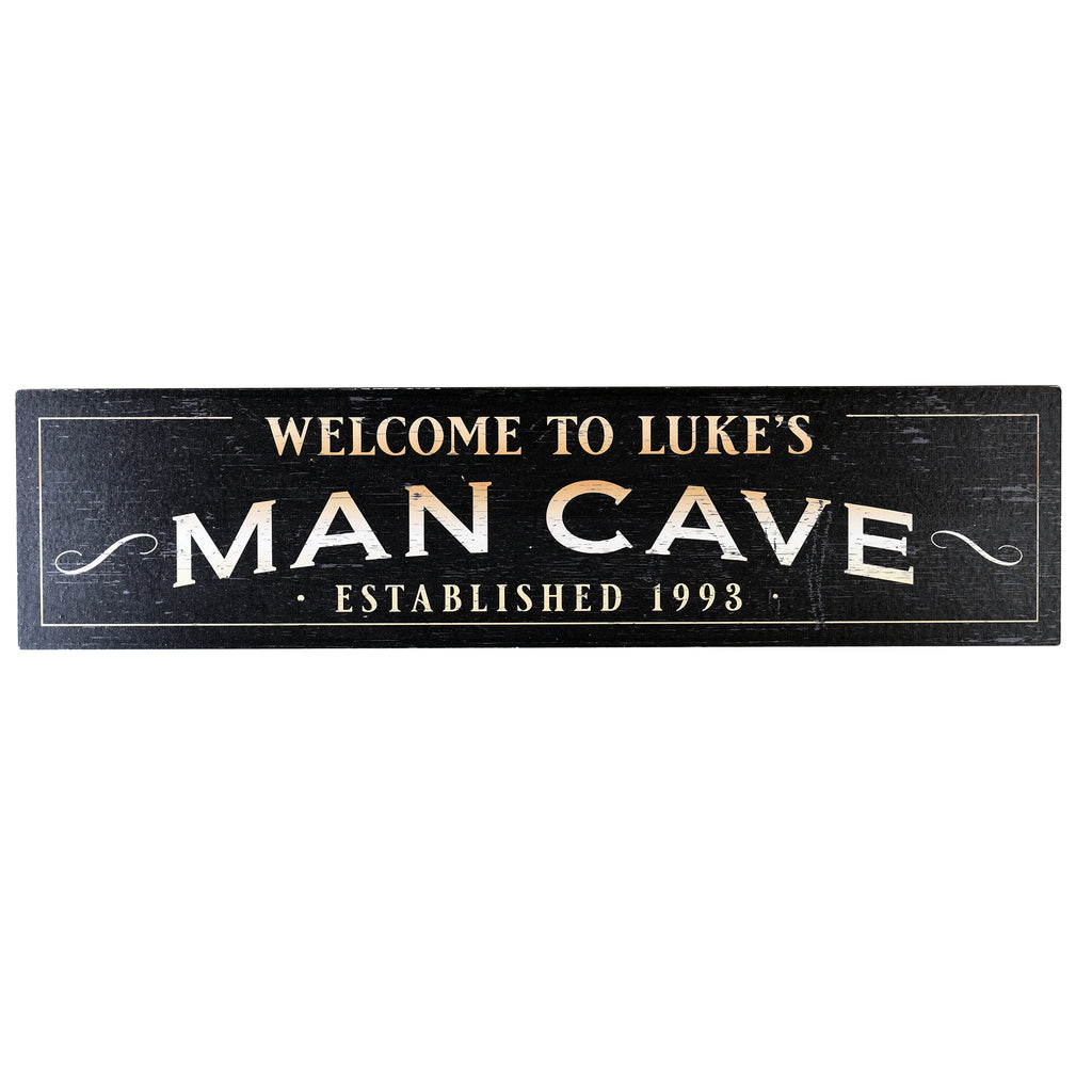 Man Cave Wood Home Bar Sign by Crystal Imagery