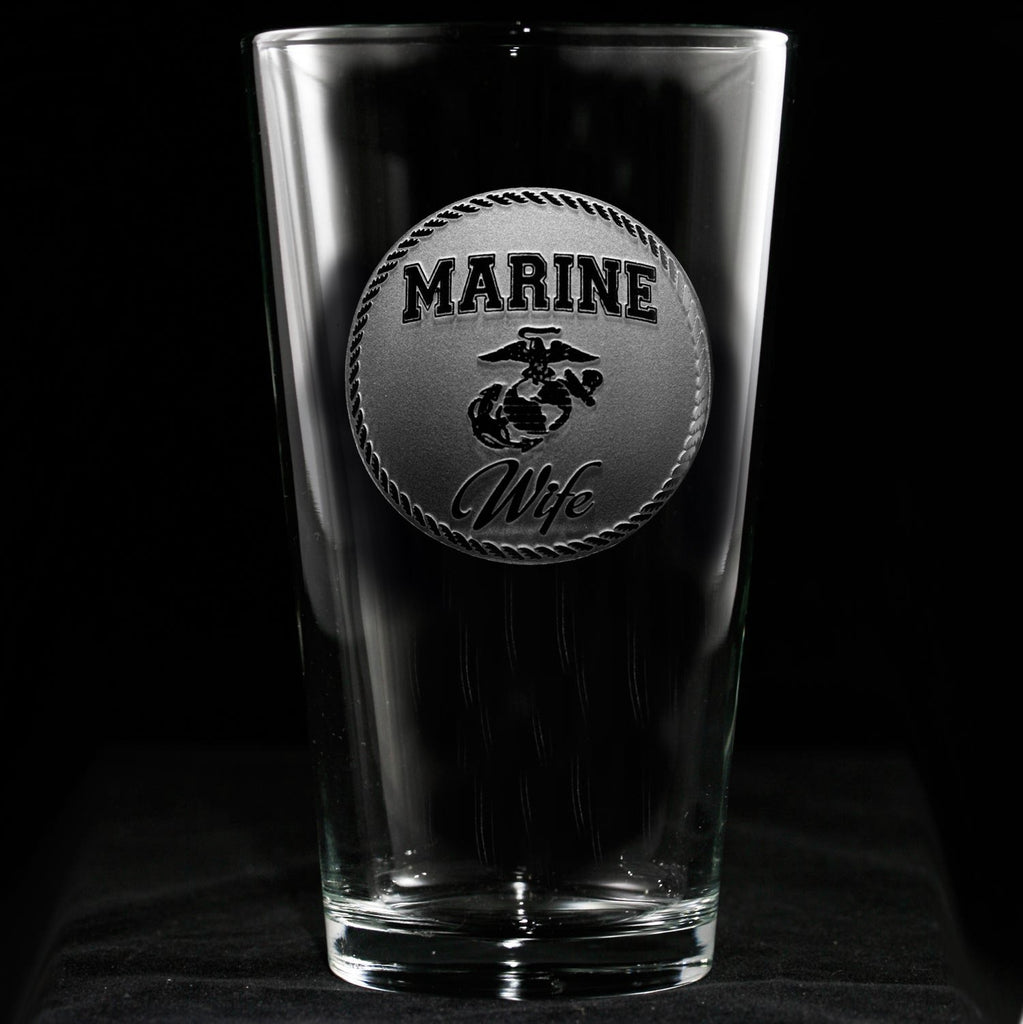 Marine Wife Pint Pub Beer Glass