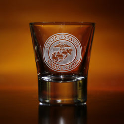 Engraved Marines Shot Glasses