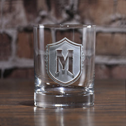 Monogrammed Initial Letter on Whiskey Scotch Glasses