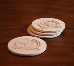 Company Logo Coasters. SET of 4