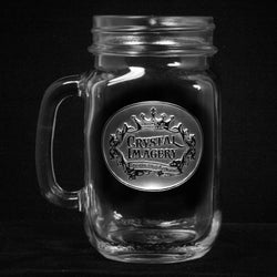 Logo Mason Jar Mugs. Engraved