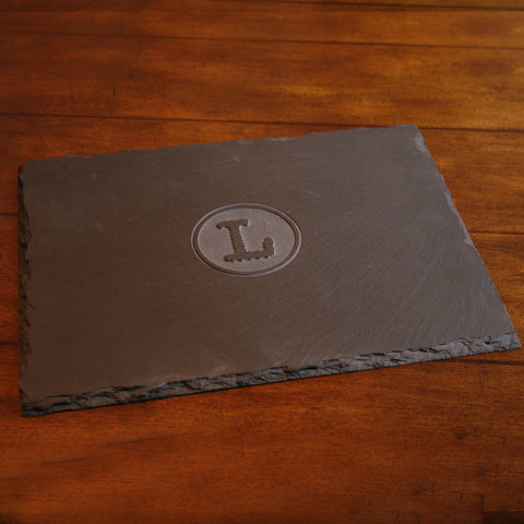 Custom Logo Slate Serving Tray. Cheese Board