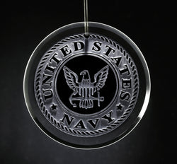 Navy Seal Glass Ornament