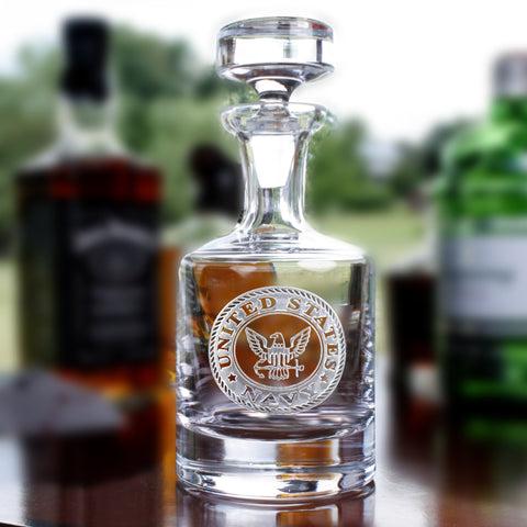 Engraved Navy Whiskey Scotch Bourbon Decanters