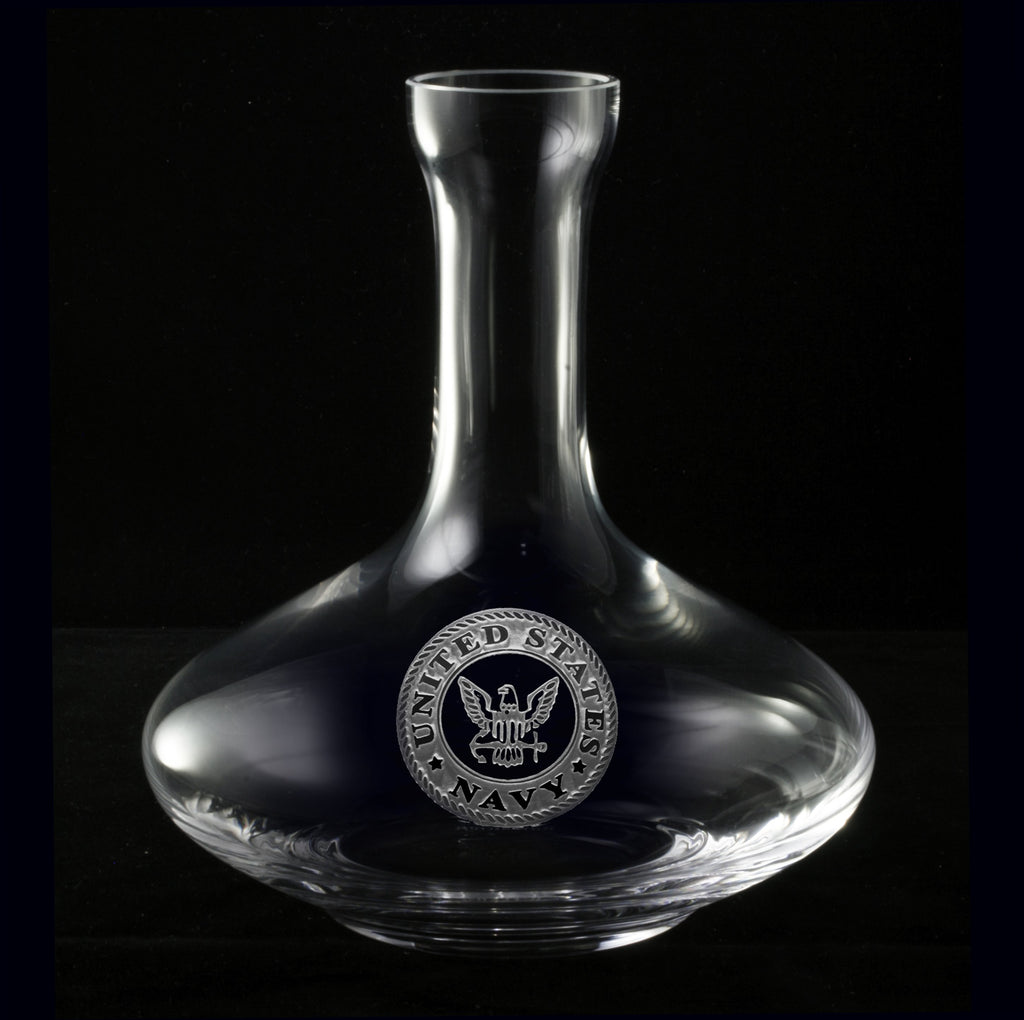Navy Wine Decanter
