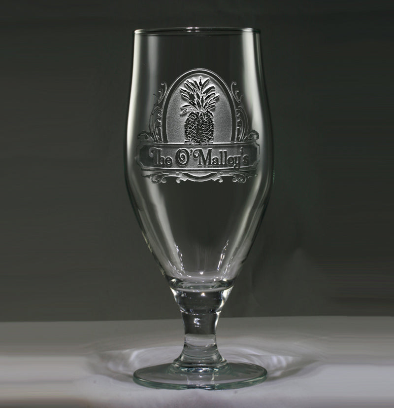 Engraved and Personalized Pineapple Welcome Goblet