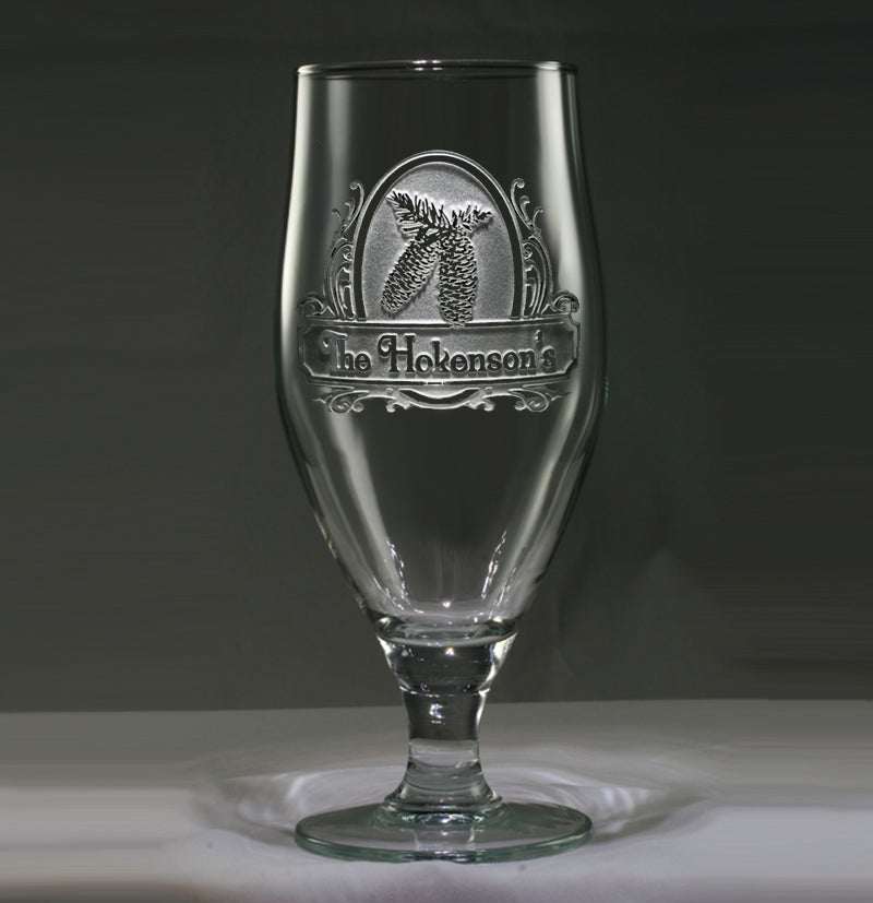 Engraved and Personalized Pinecone Goblet