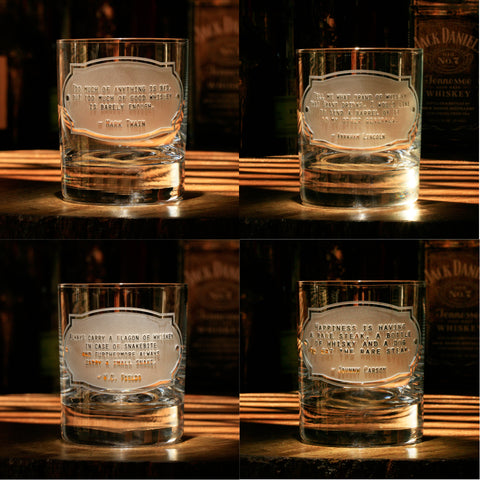Whimsical Whiskey Legends Quotes, Set of 4
