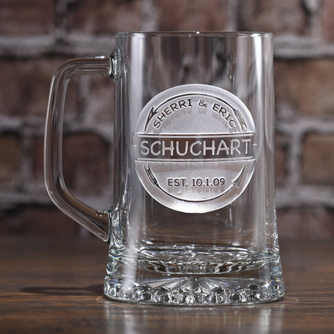 Rustic Arrows Personalized Beer Mug