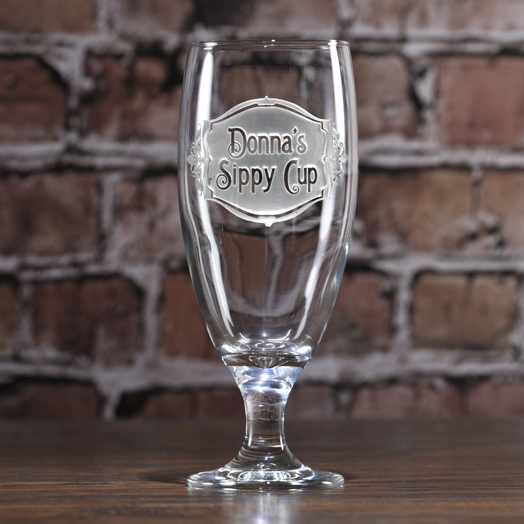 Engraved Personalized Sippy Cup Goblet