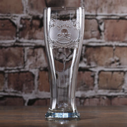 Skull and Bones Pilsner Beer Glass