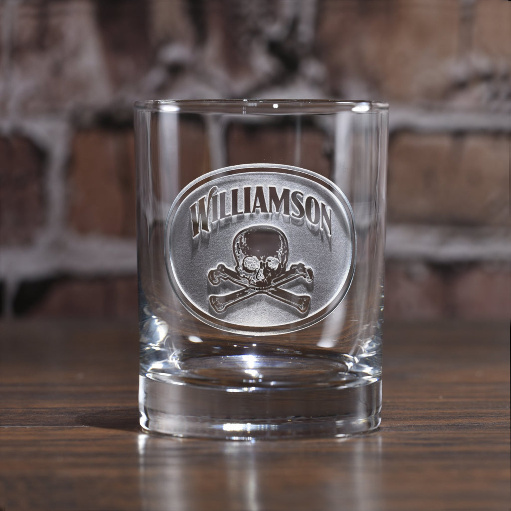 Skull and Bones Whiskey Glass
