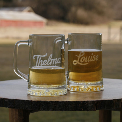 Thelma and Louise Beer Mug Set. Best Friend Gifts
