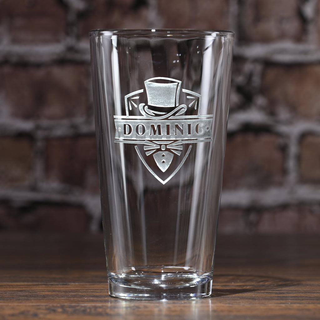Groomsmen Beer Glass. Pint Pub