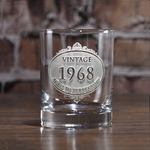 Customized Engraved Vintage Year Whiskey Glass