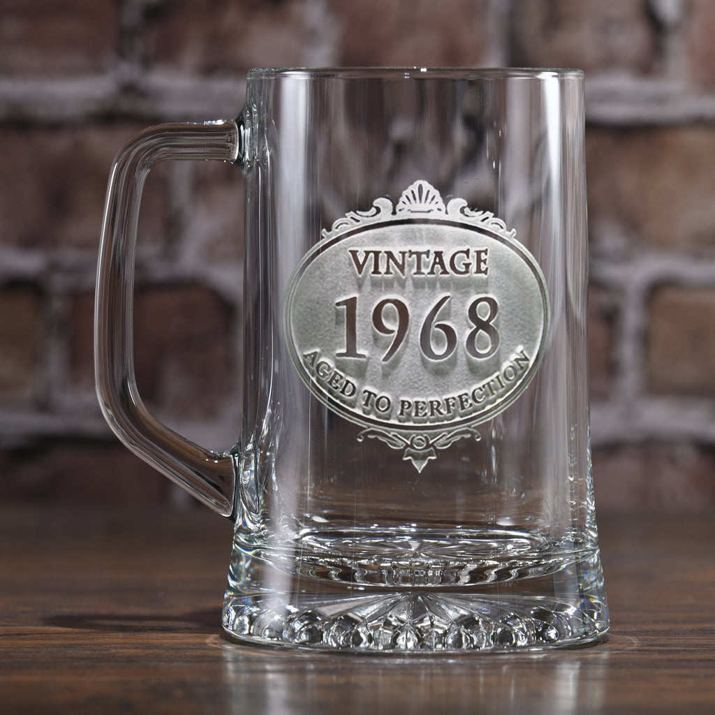 Customized Engraved Vintage Year Beer Mug