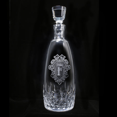 Waterford Crystal Decanter. Monogrammed