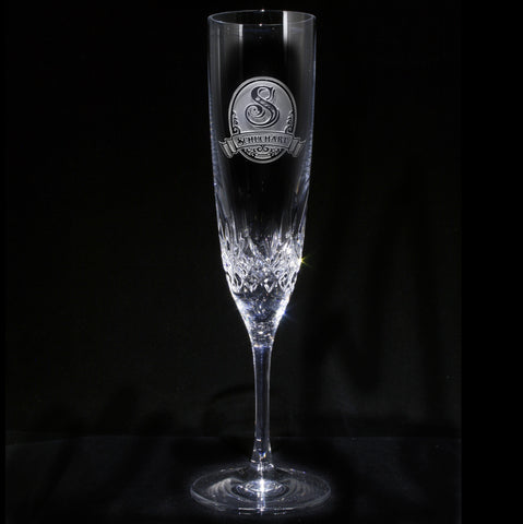 Engraved Waterford Crystal Flute