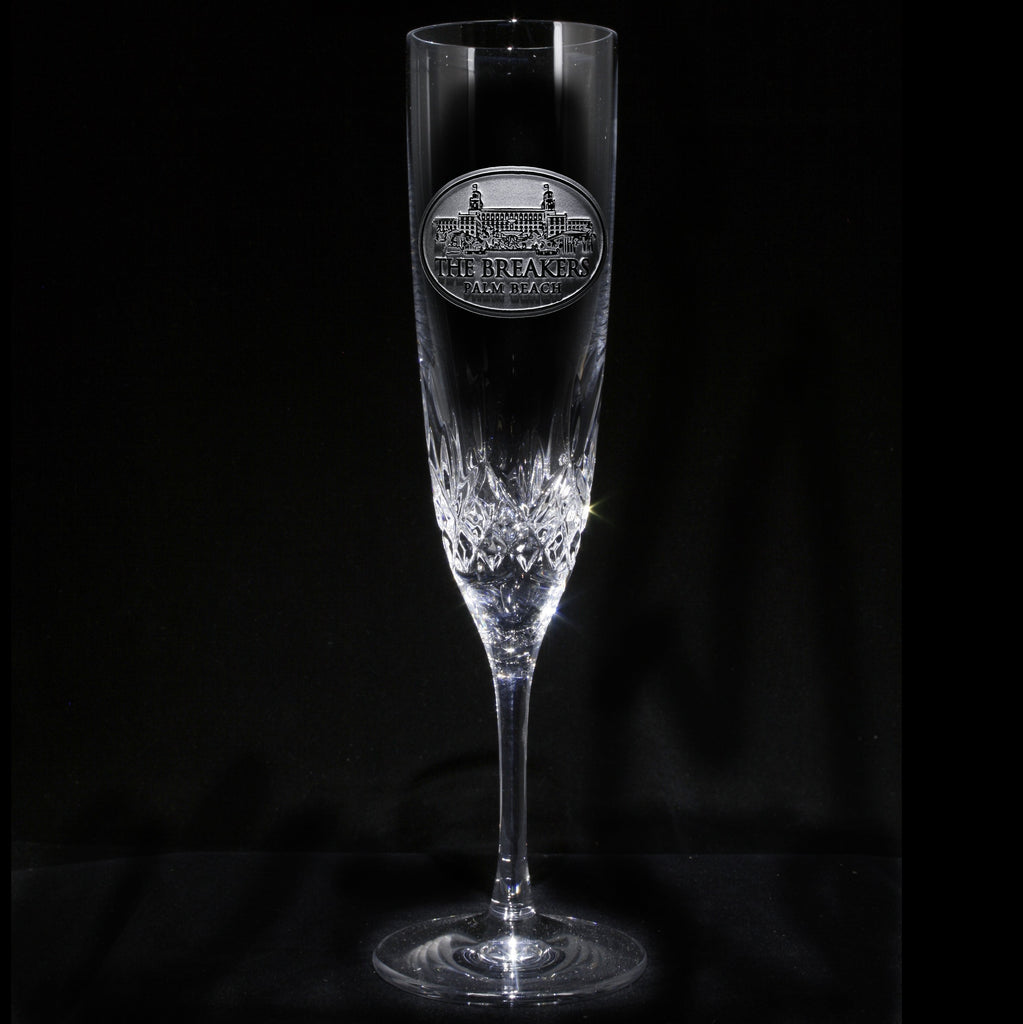 Logo Champagne Toasting Crystal Glass