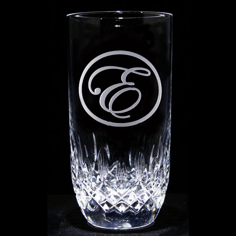 Engraved Crystal Hiball Cocktail Glass. Set of 4
