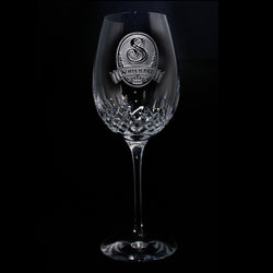 Engraved Waterford Crystal Wine Glass