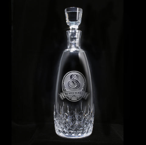 Engraved Waterford Crystal Decanter