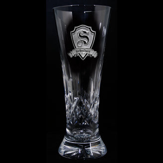 Waterford Crystal Pilsner Engraved Glasses. PAIR