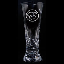 Engraved Crystal Beer Pilsner. PAIR