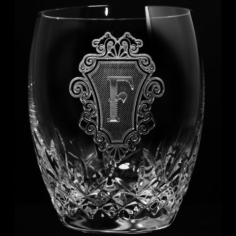 Engraved Waterford Crystal Whiskey Glasses. PAIR
