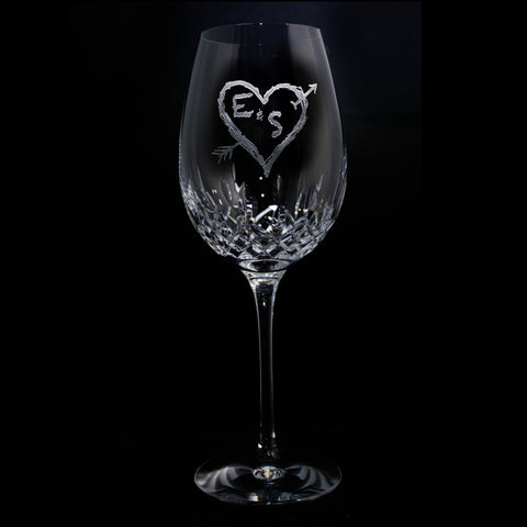Waterford Crystal Wedding Gift. Wine Glass