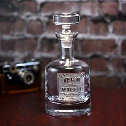 Whiskey Label Decanter