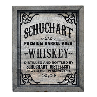 Whiskey Label Wood Home Bar Sign by Crystal Imagery