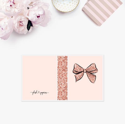Mini Album | Glitter Bow Pink