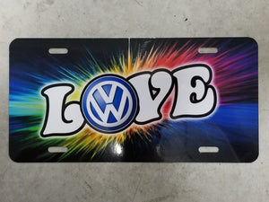 VW Love License Plate