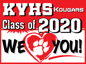 "18 ""x 24"" Kankakee Valley Senior Yard Sign"
