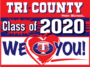 "18 ""x 24"" Tri-County Senior Yard Sign"
