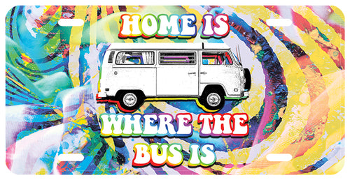 Home Is Where The Bus Is License Plate