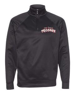 Trojan Text Quarter Zip Pullover
