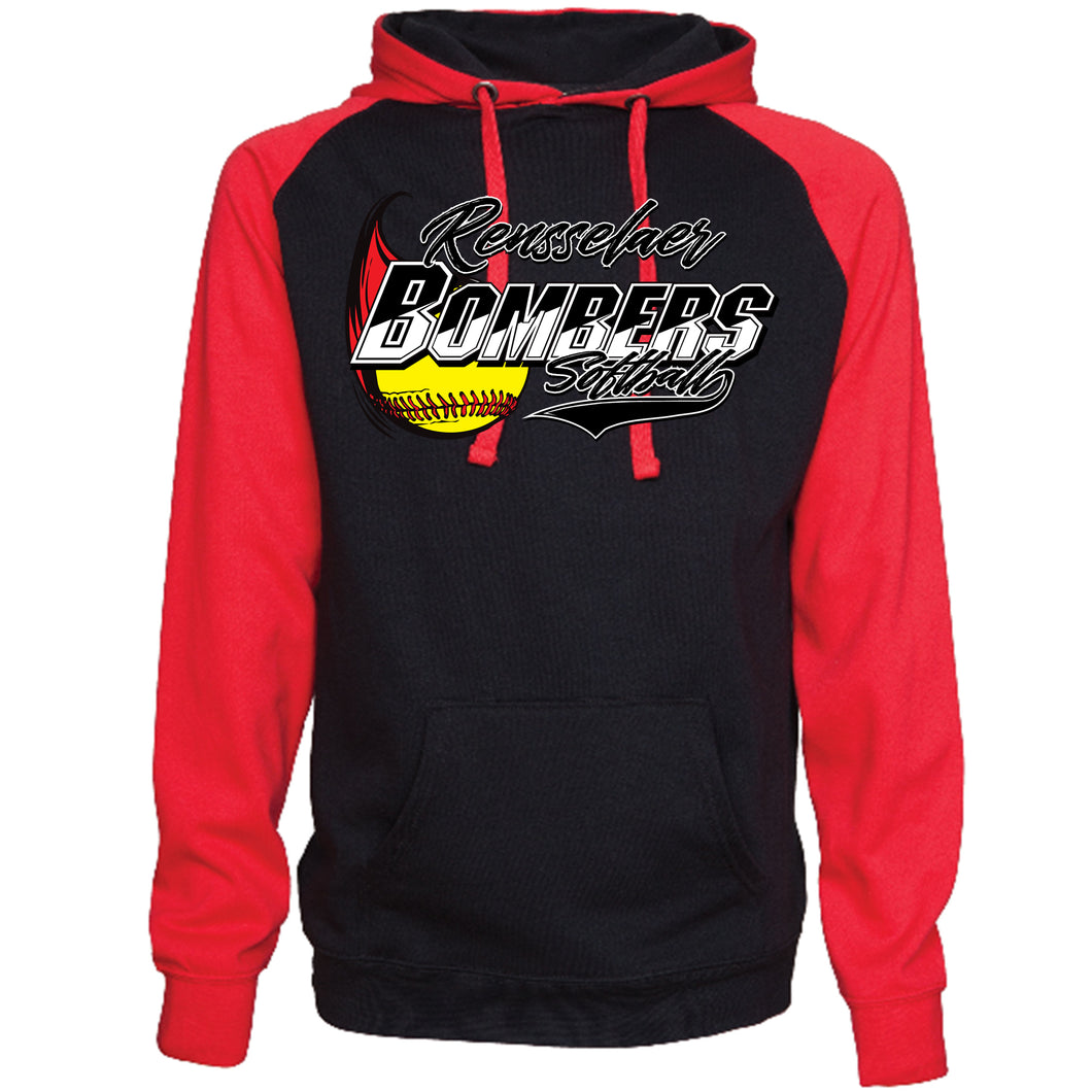 Bomber Softball Fleece Pullover Hoodie