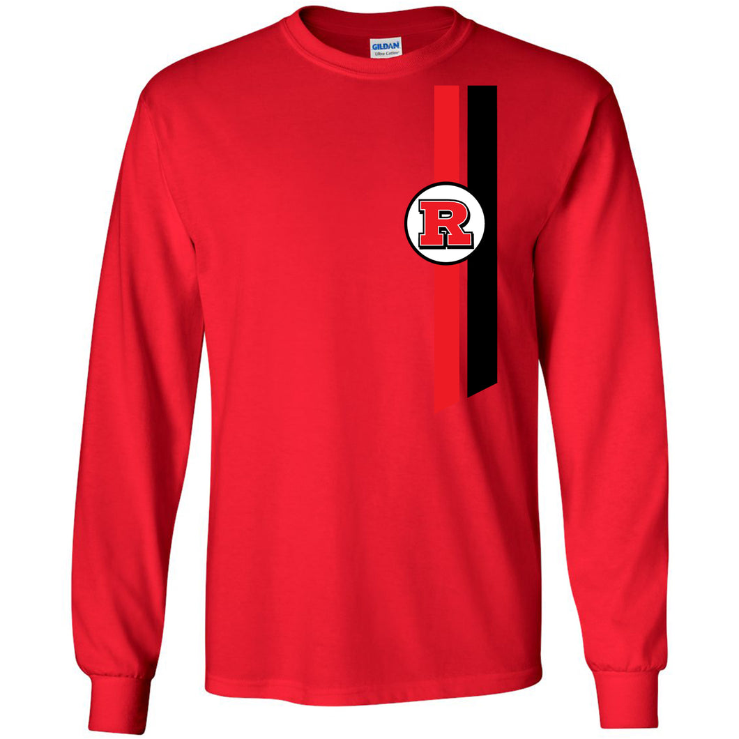 Bomber Basketball Long sleeve T-shirt (Red)