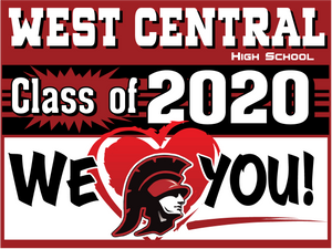 "18 ""x 24"" West Central Senior Yard Sign"