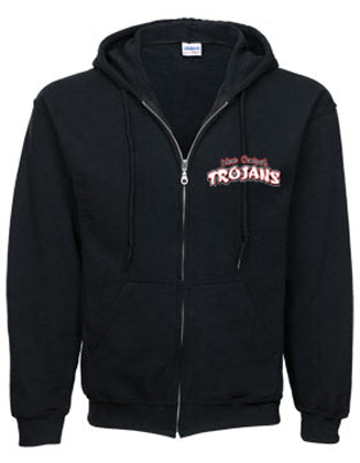 Trojan Text Zip-Up Hoodie