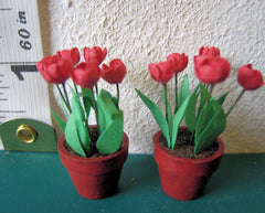RED TULIPS FLOWER KIT 24TH SCALE