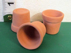 3 large  Dolls House pots  Terracotta  1:12