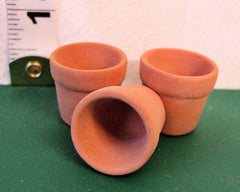 3 MEDIUM  Dolls House Plant Pots