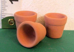 3 SMALL Dolls House  Plant pots   1:12