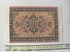 SMALL Dolls house Turkish RUG/ CARPET [6C] pink/blue/cream 12th or 24th scale